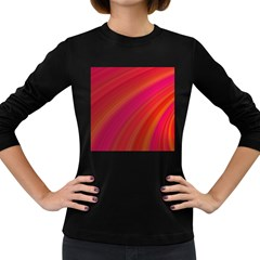 Abstract Red Background Fractal Women s Long Sleeve Dark T Shirts