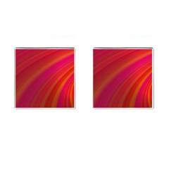 Abstract Red Background Fractal Cufflinks (square)