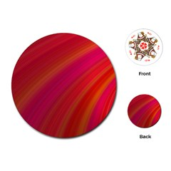Abstract Red Background Fractal Playing Cards (round)