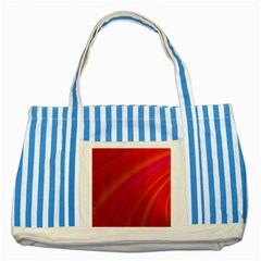 Abstract Red Background Fractal Striped Blue Tote Bag