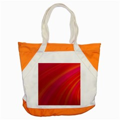 Abstract Red Background Fractal Accent Tote Bag