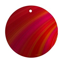 Abstract Red Background Fractal Round Ornament (two Sides) by Nexatart
