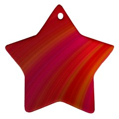 Abstract Red Background Fractal Star Ornament (two Sides)