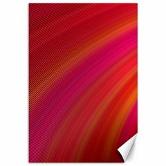 Abstract Red Background Fractal Canvas 12  X 18