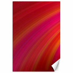 Abstract Red Background Fractal Canvas 20  X 30