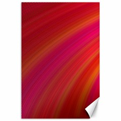 Abstract Red Background Fractal Canvas 24  X 36