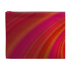 Abstract Red Background Fractal Cosmetic Bag (xl)