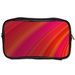 Abstract Red Background Fractal Toiletries Bags 2 Side