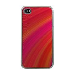 Abstract Red Background Fractal Apple Iphone 4 Case (clear) by Nexatart