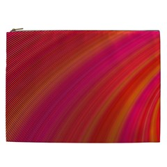 Abstract Red Background Fractal Cosmetic Bag (xxl)