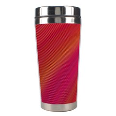 Abstract Red Background Fractal Stainless Steel Travel Tumblers