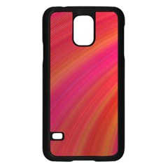 Abstract Red Background Fractal Samsung Galaxy S5 Case (black)