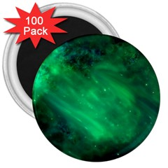 Green Space All Universe Cosmos Galaxy 3  Magnets (100 Pack)