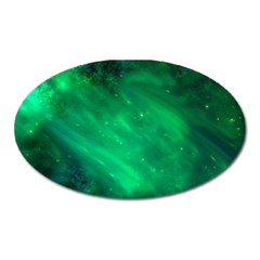 Green Space All Universe Cosmos Galaxy Oval Magnet