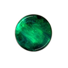 Green Space All Universe Cosmos Galaxy Hat Clip Ball Marker by Nexatart