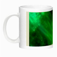 Green Space All Universe Cosmos Galaxy Night Luminous Mugs by Nexatart
