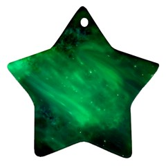 Green Space All Universe Cosmos Galaxy Star Ornament (two Sides) by Nexatart