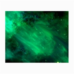 Green Space All Universe Cosmos Galaxy Small Glasses Cloth (2 Side) by Nexatart