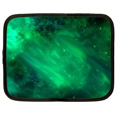 Green Space All Universe Cosmos Galaxy Netbook Case (large) by Nexatart