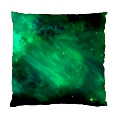 Green Space All Universe Cosmos Galaxy Standard Cushion Case (two Sides) by Nexatart