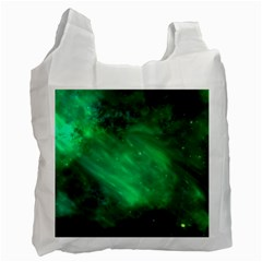 Green Space All Universe Cosmos Galaxy Recycle Bag (one Side)