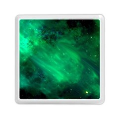 Green Space All Universe Cosmos Galaxy Memory Card Reader (square)  by Nexatart