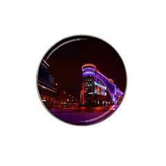 Moscow Night Lights Evening City Hat Clip Ball Marker by Nexatart