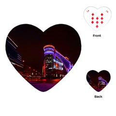 Moscow Night Lights Evening City Playing Cards (heart)  by Nexatart