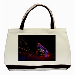 Moscow Night Lights Evening City Basic Tote Bag by Nexatart