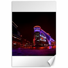 Moscow Night Lights Evening City Canvas 24  X 36