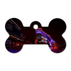 Moscow Night Lights Evening City Dog Tag Bone (two Sides)
