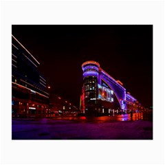 Moscow Night Lights Evening City Small Glasses Cloth (2 Side) by Nexatart