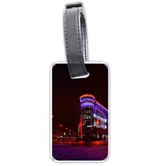 Moscow Night Lights Evening City Luggage Tags (one Side)