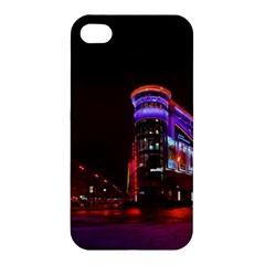 Moscow Night Lights Evening City Apple Iphone 4/4s Premium Hardshell Case by Nexatart