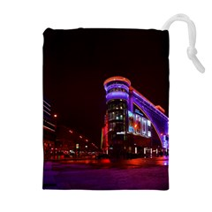 Moscow Night Lights Evening City Drawstring Pouches (extra Large) by Nexatart