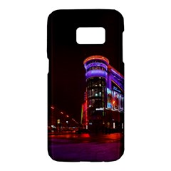 Moscow Night Lights Evening City Samsung Galaxy S7 Hardshell Case