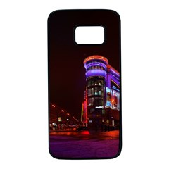 Moscow Night Lights Evening City Samsung Galaxy S7 Black Seamless Case by Nexatart