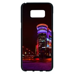 Moscow Night Lights Evening City Samsung Galaxy S8 Plus Black Seamless Case by Nexatart