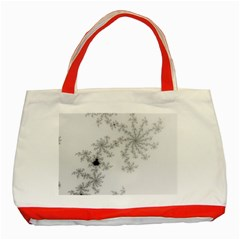 Mandelbrot Apple Males Mathematics Classic Tote Bag (red)