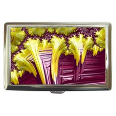 Yellow Magenta Abstract Fractal Cigarette Money Cases