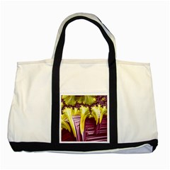 Yellow Magenta Abstract Fractal Two Tone Tote Bag