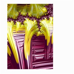 Yellow Magenta Abstract Fractal Large Garden Flag (two Sides) by Nexatart