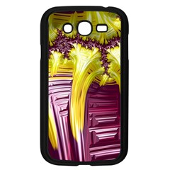 Yellow Magenta Abstract Fractal Samsung Galaxy Grand Duos I9082 Case (black) by Nexatart