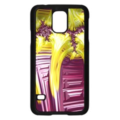 Yellow Magenta Abstract Fractal Samsung Galaxy S5 Case (black)