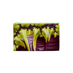 Yellow Magenta Abstract Fractal Cosmetic Bag (xs) by Nexatart