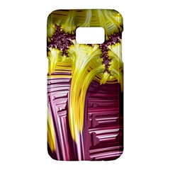 Yellow Magenta Abstract Fractal Samsung Galaxy S7 Hardshell Case