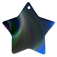 Gloom Background Abstract Dim Star Ornament (two Sides) by Nexatart