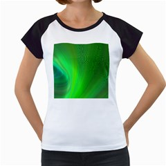 Green Background Abstract Color Women s Cap Sleeve T