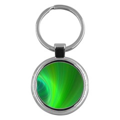 Green Background Abstract Color Key Chains (round)