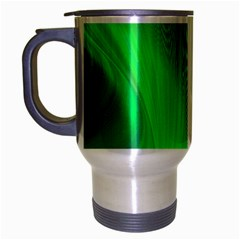 Green Background Abstract Color Travel Mug (silver Gray) by Nexatart